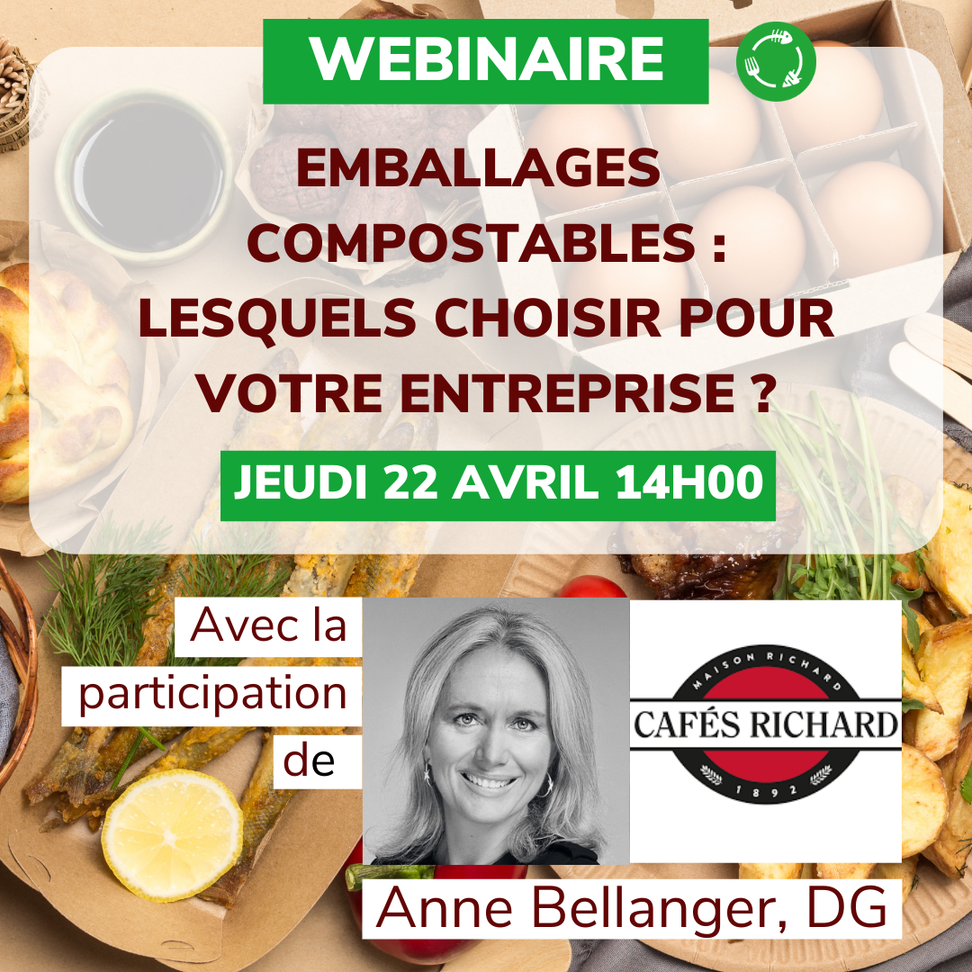 Webinaire emballages compostables lesquels choisir UpCycle X Cafes richard