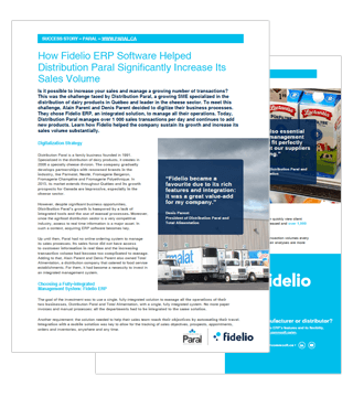 Fidelio ERP and Paral Distribution Success Story