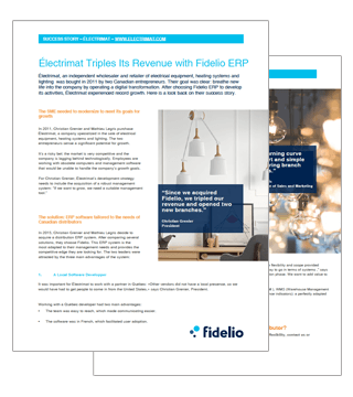 Fidelio ERP: Électrimat Success Story
