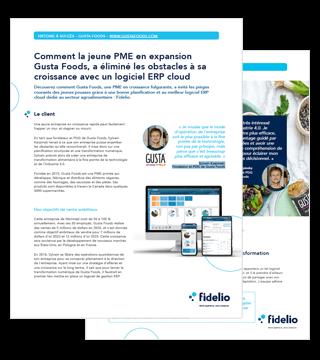 Histoire à succès Gusta Foods et Fidelio ERP Cloud
