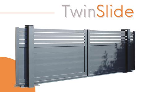 Portail motorisé coulissant TwinSlide