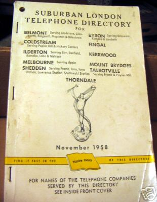 London ont white pages phone book