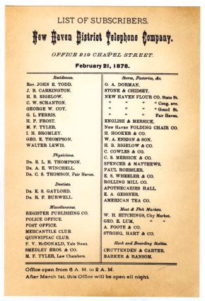 Image result for first telephone directory issued in the united states
