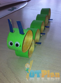 Paper Roll Caterpillar OT activity