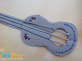 Construction Paper Guitar OT activity