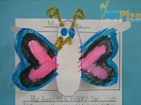 Hearts and Oval Butterfly OT activity