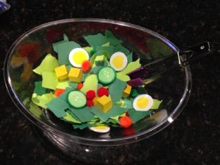 Sensory Salad OT activity