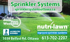 Sprinkler Systems From Nutri-Lawn Ottawa