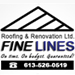 Website for FineLines Roofing & Renovations Ltd.