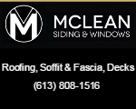 Website for Mclean Siding & Windows Ltd