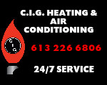 Website for C.I.G. Heating & Air Conditioning Ltd.