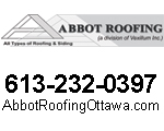 Website for Abbot Roofing a division of Vexillum Inc.