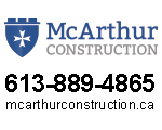 Website for McArthur Construction a division of Vexillum Inc.