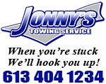 Website for Jonny's Towing Service