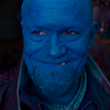 a picture of Yondu grinning widely. One tooth is showing.