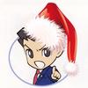 Phoenix Wright in a Santa hat