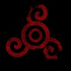Teen Wolf Legacy Icon (Combined Triskele and Two Rings), Red/Crimson