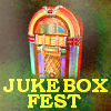 Colourful jukebox with text 'Jukebox Fest'