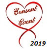 """Consent Event"" written in red inside a red heart on a white background. ""2019"" written in black on the bottom right side."