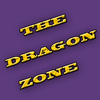 """Yellow text reading """"THE DRAGON ZONE"""" on a purple background"""