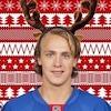 Carl Hagelin with reindeer antlers