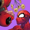 Spideypool Hearts and Flowers Icon