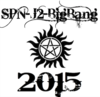 Supernatural demon protection tattoo in black on white background with Big Bang 2015 in black text