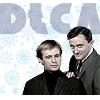 Napoleon and Illya with snowflake background