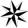 Black & White Compass Rose