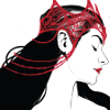 scarlet witch crowned in profile