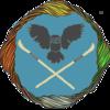 the logo of the tamora pierce discord server, Kel's shield surrounded by Sandry's thread