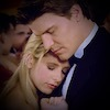 Buffy and Angel embrace during The Prom