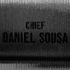 """Image of vintage office door. Name on the door is """"Chief Daniel Sousa"""""""