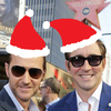 An image of Richard and Lee with Santa hats Photoshopped on