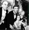 Group of characters from the Jeeves and Wooster show at a musical entertainment