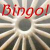 An image of Moroccan stonework plus the word Bingo!