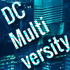 DC Multiversity text on blue landscape backdrop