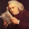 Samuel Johnson looking at a text