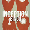 Inception Bingo logo - silhouettes of Cobb, Arthur, Ariadne, and Eames, overlaid with the words 'Inception Bingo'