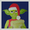 House Elf with Santa hat reading a list