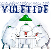 Yuletide Hippos around a table