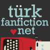 Turkfanfiction.net above red typewriter