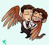 chibi owl and dragon