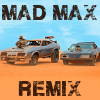 "Image of Interceptor and Razor Cola cars side-by-side, with the words ""Mad Max Remix"""