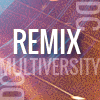 Text on a colorful background that states DC Multiversity Remix