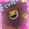 An image of the Summerween Trickster from Gravity Falls, a creature in a scarescrow outfit and a smiley face mask, surrounded by a pink frame and cute stickers.