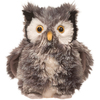 She's a plush silver owl named Agatha; the large snowy owl is 'Owl-ly...""