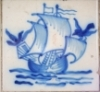 Tile painting of a ship