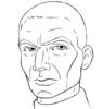 Rex headshot pencil drawing