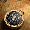 compass and treasure map